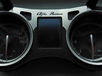 Interieur Stahlabdeckung Für Alfa Romeo 159 Brera Spider 939 1 Stück Warn Und Kontrollleuchten Platte Zubehör Edelstahl Gebürstet Blenden Cockpit Dekor Mass Angefertigt Auto