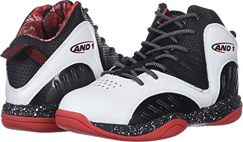 AND1 Boys' Size 'M Up Sneaker, White/Black/Fiery red,, used for sale  Delivered anywhere in USA