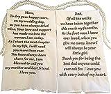 Custom Poem Handkerchief- Your choice of words up to 60. Wedding Keepsake