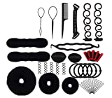 1Set 12 Different Styles Professional Hair Styling Tools-Hair Volume Bump it Up Hair Tie Hair Pin Hair Clip Bun Maker Pull Hair Needle Donut Braiding Tool Kit Hair Styling accessories