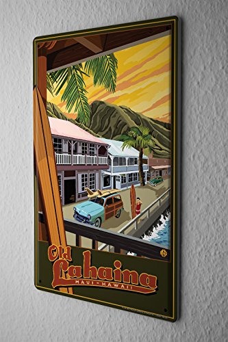 Tin Sign World Tour Old - Stores Lahaina In