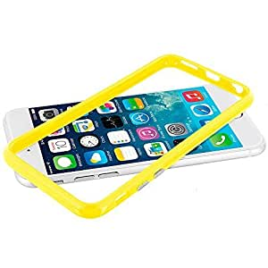 Accessory Planet(TM) Yellow TPU Bumper Frame with Metal Buttons Case Cover for Apple iPhone 6 Plus (5.5)