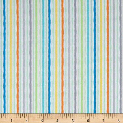Wavy Stripe Quilt Fabric - Kanvas Studio Jungle Jamboree Wavy Stripe Multi Fabric By The Yard