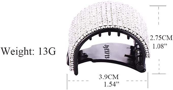 Acrylic Hairpin Crystal Hair Claws Ponytail Round Jaw Clips Hair Grip Clamp New