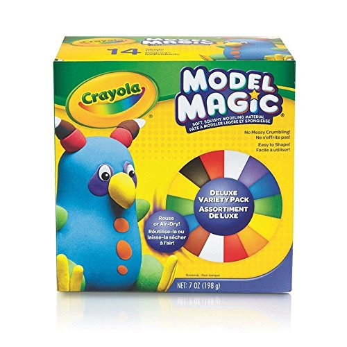 (Crayola Model Magic, Deluxe Craft Pack, Clay Alternative, Gift for Kids, 14 Single)