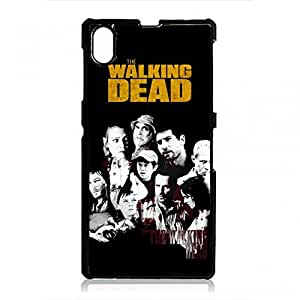 The Walking Dead Phone Case Black Hard Case Cover For Sony Xperia Z1