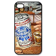 pabst blue ribbon beer Image Protective iphone 5S / iPhone 5 Case Cover Hard Plastic Case For iPhone 5 5S