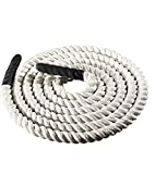 Pro-form Training Battle Rope 20 FT Max Extreme TAN Fitness Crossfit Wrapped Grips