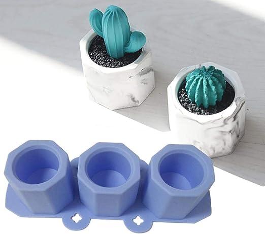 Silicone Flower Pot DIY Soap 3D Moulds Craft Succulent Concrete Plant Mold