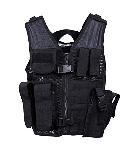 Rothco Tactical Cross Draw MOLLE Holster Vest Black