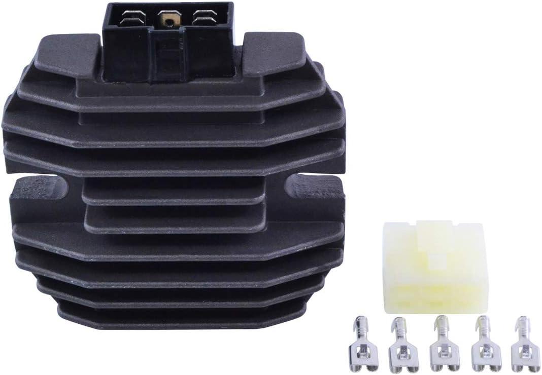 Voltage Regulator Rectifier For Yamaha XP TMax 500 530 FZR 600 R YFZ R1 YZF RS YZF R6 YZF 600 R SRX V Max Mountain Max 600 700 1995-2016 OEM Repl.# 4JH-81960-00-00 4JH-81960-01-00 5SL-81960-00-00