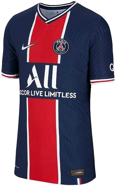 Amazon Com Nike 2020 2021 Psg Home Vapor Match Football Soccer T Shirt Jersey Kids Clothing
