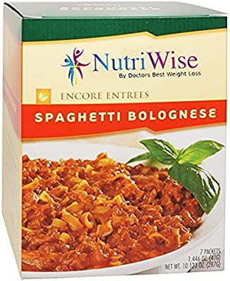NutriWise - High Protein Diet Entree   Spaghetti Bolognese   Low Calorie, Low Fat, Sugar Free ( 7/Box )