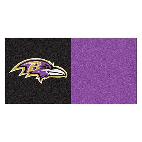 (FANMATS NFL Baltimore Ravens Nylon Face Team Carpet Tiles)