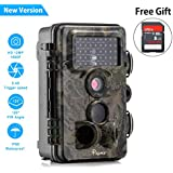 """Trail Game Camera 12MP 1080P HD Hunting Camera 120° Wide Angle for Surveillance Scouting with 850nm Night Vision 3 Zone Infrared Sensor,IP66 Waterproof 0.4S Trigger Speed 46 Pcs IR LEDs 2.1""""LCD Screen"""