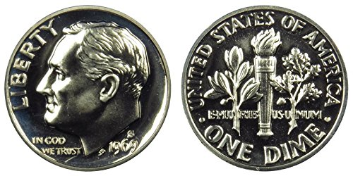 1969 S Proof S Roosevelt Clad Dime PF1