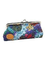Women's Embroidery Flower Handbag Hasp Coin Purse Pouch Wallet Clutch Bag