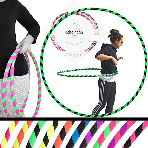 Echo Hoops Collapsible Travel Hula Hoop - Several Color Choices (Yellow/Pink)
