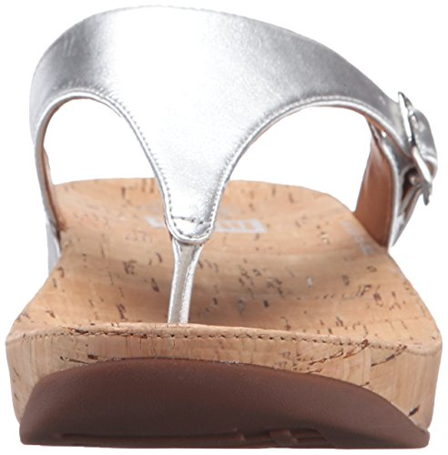 Fitflop the Skinny, Chanclas para Mujer Plateado