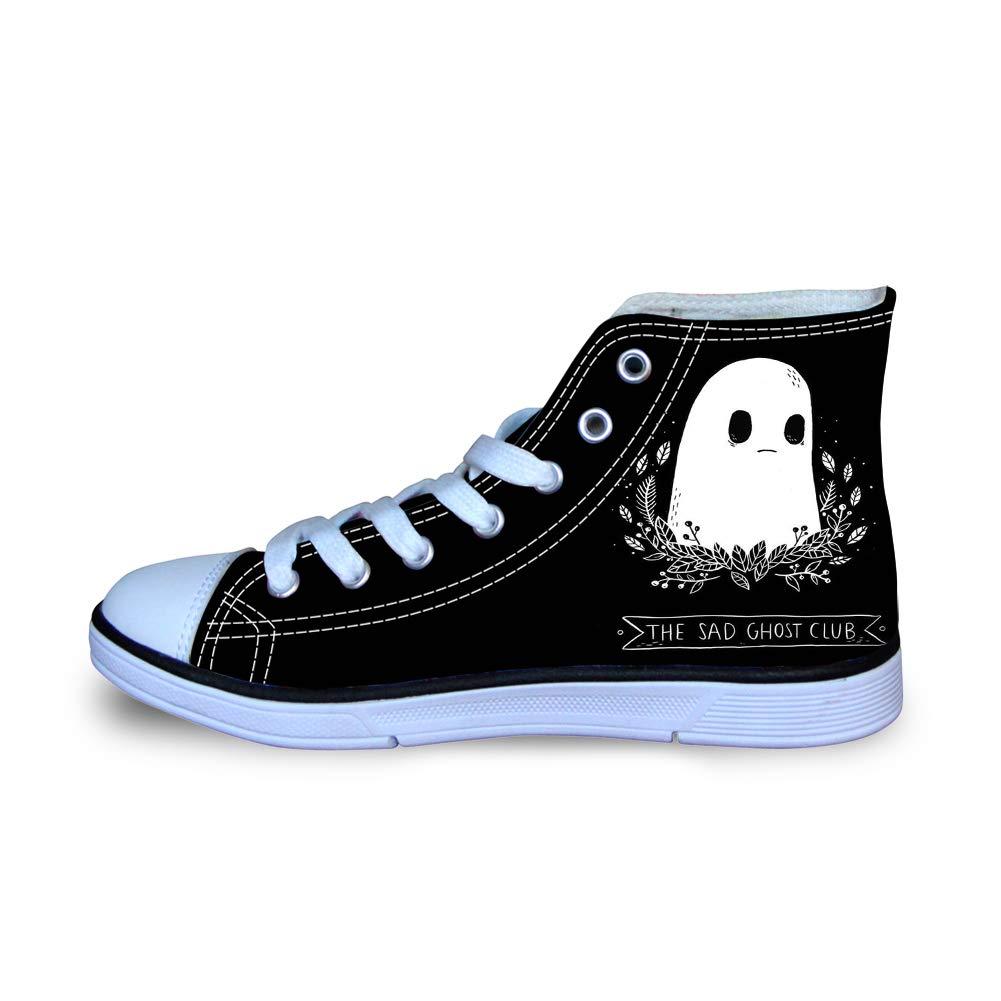 Canvas High Top Sneaker Casual Skate Shoe Boys Girls Halloween The Sad Ghost Club