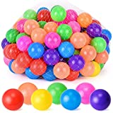 Cheap Rainbrace Ball Pit Balls, Soft Plastic Kids Play Balls Pack of 100 Crush Proof Balls – Non Toxic Phthalate Free BPA Free Ideal for Baby or Toddler Ball Pit, Kiddie Pool, Parties (7 Bright Colors)