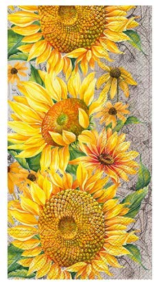 Sunflower Disposable Hand Towels Guest Napkins 32 Count Pack Party Supplies Birthday Bridal Wedding Shower