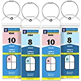 GreatShield Cruise Luggage Tag Holder (4 Pack) Zip Seal & Steel Loops, Water Resistance PVC Pouch for Royal Caribbean and Celebrity Cruise Ship