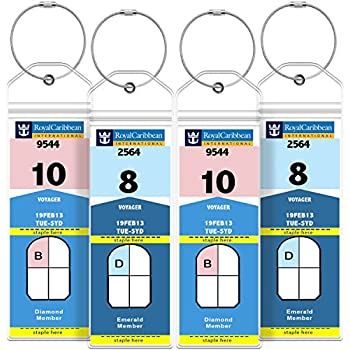 GreatShield Luggage Tags, Weatherproof Zip Seal U0026 Steel Loops For Royal  Caribbean And Celebrity Cruise (4 Pack)