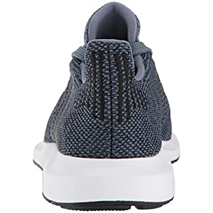 adidas Originals Unisex-Kids Swift Run J Sneaker, Raw Steel s, Core Black, Core Black, 4 M US Big Kid