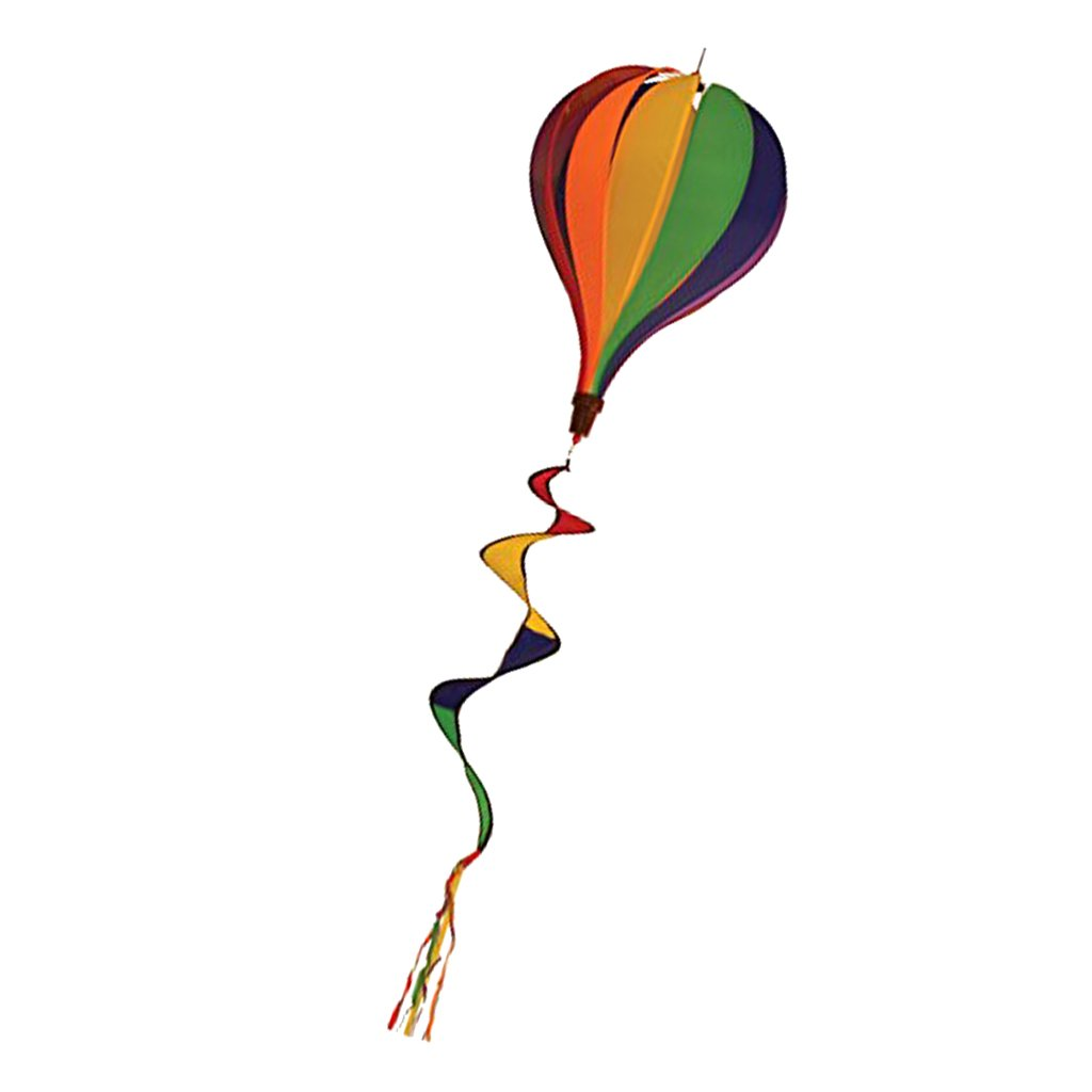 Monkeyjack 55 Coloful Rainbow Windsock Hot Air Balloon Wind Windsocks Garden Yard Outdoor Decor For Festival Celebration Rainbow