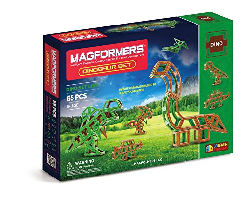 Amazon Lightning Deal 66% claimed: Magformers Amazon Exclusive Dinosaur Set (65 Piece)