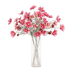 Artfen 6 Pack Artificial Calliopsis Flowers Fake Silk Flower Table Kitchen Home Garden Party Wedding Decoration approx 24'' High 2