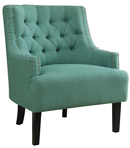 Homelegance Charisma Accent/Arm Chair, Teal Fabric