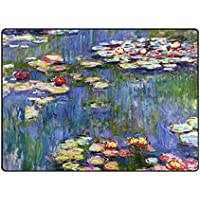 INGBAGS Super Soft Modern Monet Painting Area Rugs Living Room Carpet Bedroom Rug for Children Play Solid Home Decorator Floor Rug and Carpets 63 x 48 Inch