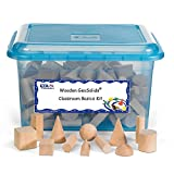 ETA hand2mind Wood Geometric Solid Blocks Classroom Kit