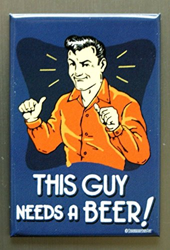 Refrigerator Antique (ART/ARTWORK FEATURED ON A MAGNET - Licensed Collectibles, Nostalgic, Vintage, Antique And Original Designs - GREAT BEER / ALCOHOL HUMOR THEME [3542801803] - BEER