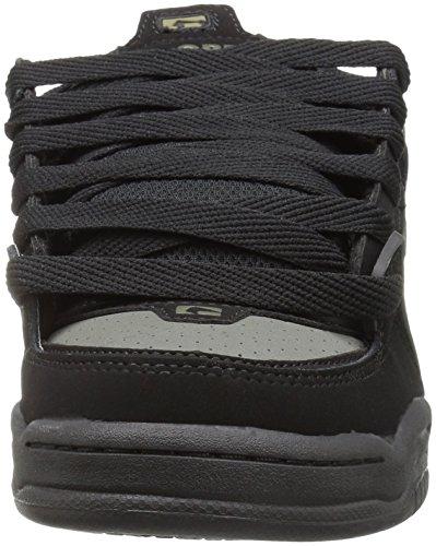 Globe Fusion - Zapatillas de skateboarding para hombre negro negro 12 M US Men negro y gris