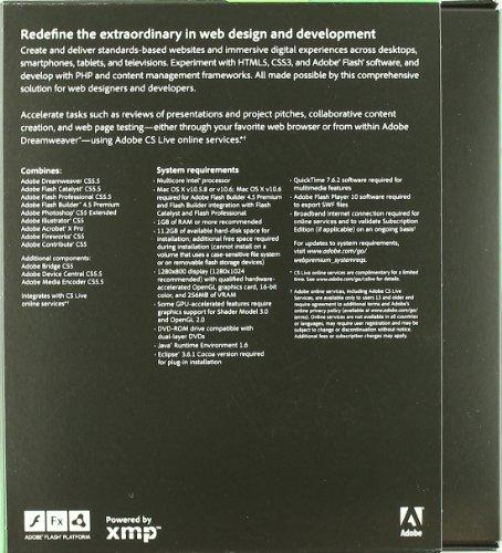 Adobe CS 5 5 Web Premium, Upgrade version from any CS 2/3 suite Studio 8,  Production Studio (Mac)