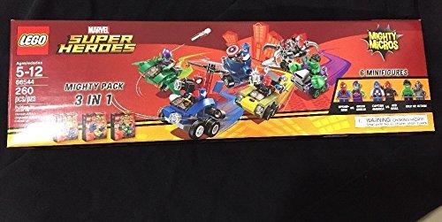 LEGO Marvel Super Heroes Mighty Micros 3 IN 1 Box Set - Spiderman vs Green Goblin, Captain America vs Red Skull, Hulk vs Ultron