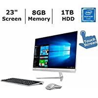 Lenovo IdeaCentre 510S Flagship Premium High Performance All-in-One Desktop, 23 inch Full HD IPS Touchscreen, Intel Pentium 4405U Processor, 8GB RAM, 1TB HDD, WiFi, BT, Webcam, Windows 10