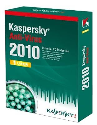 Kaspersky Anti-Virus 1 User, 1 Year License, 2010 (PC CD)