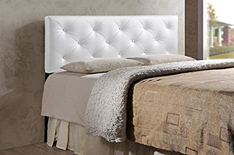 King White Baxton Studio Wholesale Interiors Baltimore Modern and Contemporary Faux Leather Upholstered Headboard