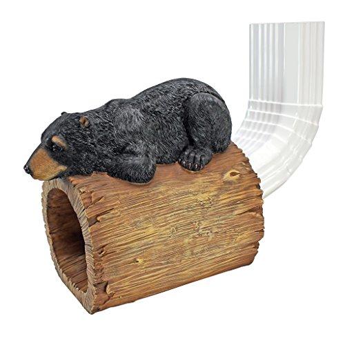 Design Toscano Black Bear Gutter Guardian Downspout Statue For Sale