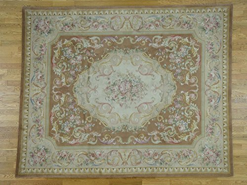 12'x18' Oversize Thick and Plush Floral Trellis Design Savonnerie Rug G36902