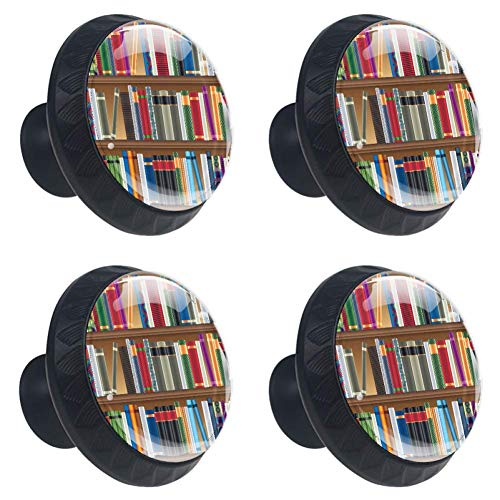 Anmarco Library Drawer Knobs Pull Handles 30MM 4 Pcs Glass Cabinet Drawer Pulls for Home Kitchen Cupboard