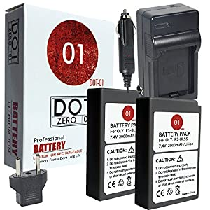 DOT-01 2X Brand Olympus Pen E-PL9 Batteries Charger Olympus Pen E-PL9 Mirrorless Olympus E-PL9 Battery Charger Bundle Olympus BLS50 BLS-50