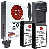 DOT-01 2X Brand Olympus Pen E-PL9 Batteries and Charger for Olympus Pen E-PL9 Mirrorless and Olympus E-PL9 Battery and Charger Bundle for Olympus BLS50 BLS-50