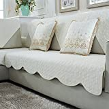 Solid color slipcover sofa,Sofa cushions fabric non-slip four seasons cotton sofa towel cotton winter european simple solid wood sofa cover-K 70x70cm(28x28inch)2