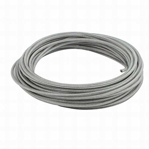 Houseuse 4mm Diameter Vinyl Coated Wire Rope Aircraft Cable 16 Meters Length by Houseuse
