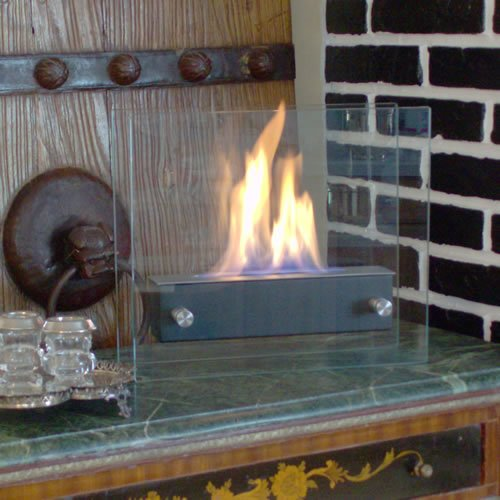 Nu-Flame Irradia Noir Portable Indoor/Outdoor Ethanol Fireplace